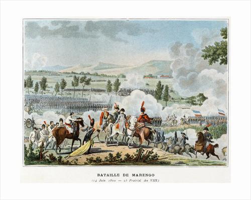 Bataille de Marengo Illustration in Victoires et Conquetes des Armees Francaises by Corbis