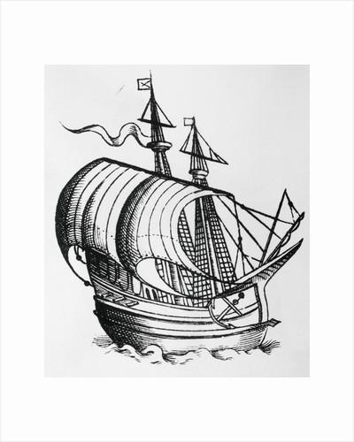 Fifteenth Century Caravel by Corbis