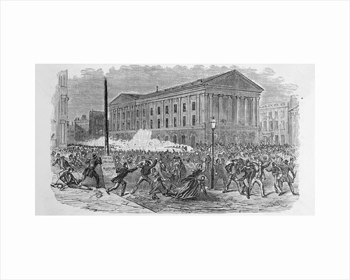 Illustration of the Riot at the Astor Place Opera House by Corbis