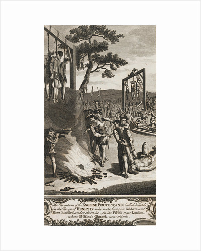 Execution of English Protestants by Corbis