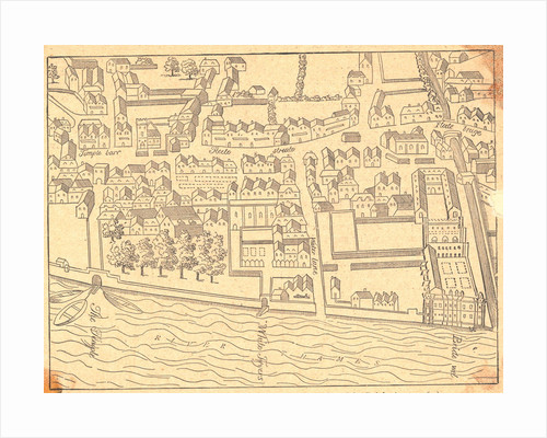16th Century Map of London by Corbis