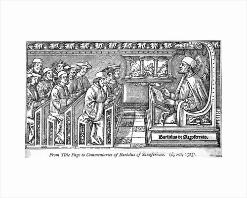 Teacher Instructing Students in Medieval Classrom by Corbis