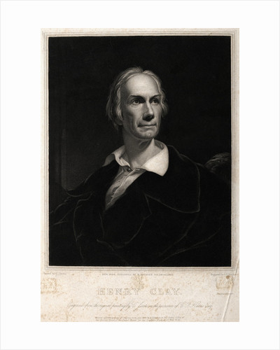 Portriat Of Politician Henry Clay by Corbis
