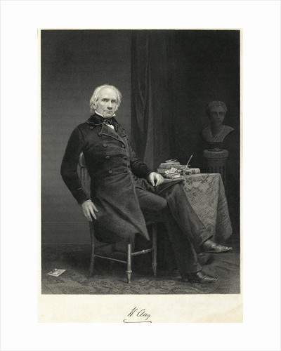 Henry Clay Sitting At A Table by Corbis