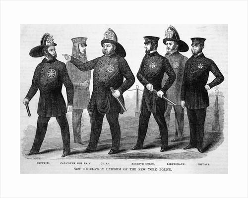 New Regulation Uniform of the New York Police by Corbis