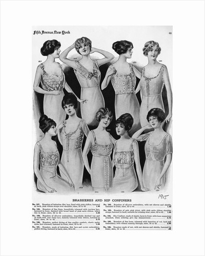 Page Of Women'S Corsets From Catalog by Corbis
