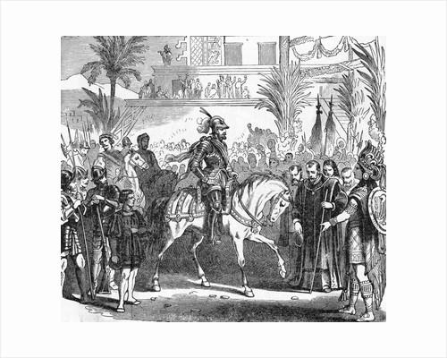 Hernando Cortes Returning Home by Corbis