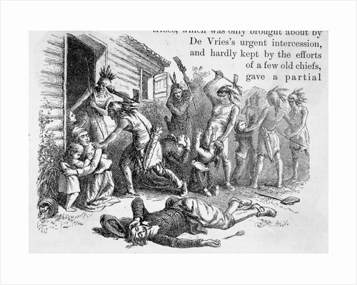 Indians Slaughtering Settlers by Corbis