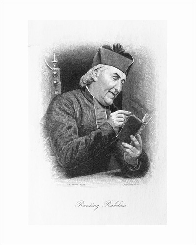 Clergyman Reading a Work of Rabelais by Corbis