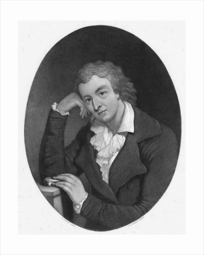 Illustration of Poet Friedrich Schiller in Thoughtful Pose by Corbis