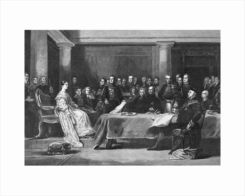 Queen Victoria and Council in Conference by Corbis