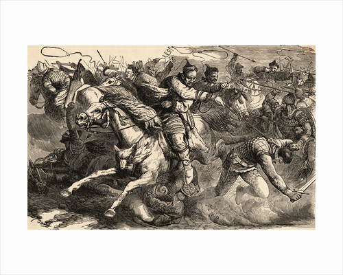 Illustration of Combat Between Huns and Alans by Corbis