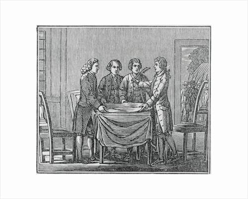 Print of European Kings Meeting Together by Corbis