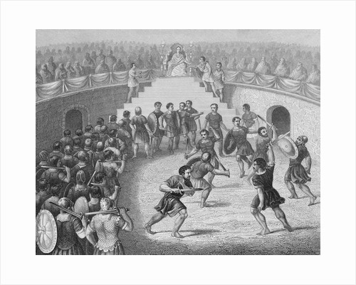Royalty and Audience Watching Gladiators Fight by Corbis