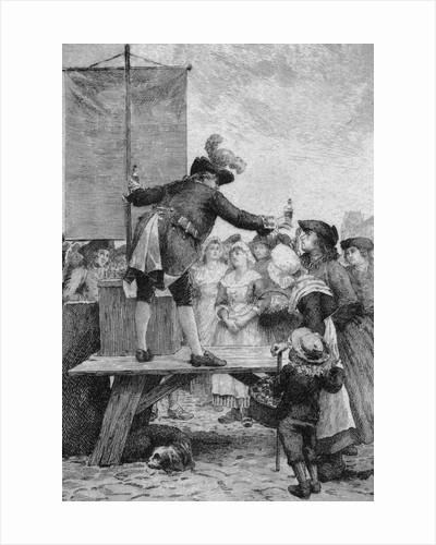 18th Century Quack Salesman Selling Potions to Citizens by Corbis