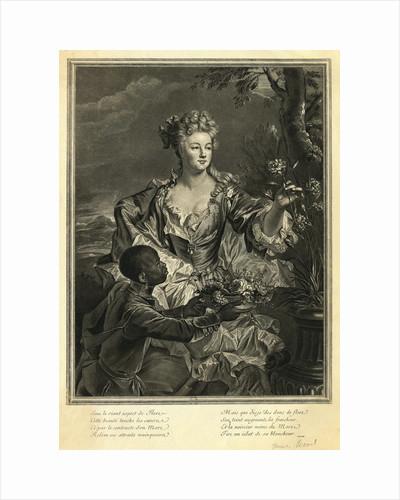 Eighteenth Century Woman With Her Servant by Corbis