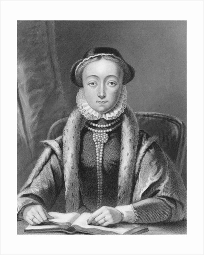 Drawing of Lady Jane Grey at Desk by Corbis