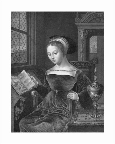 Lady Jane Grey Fingering Through Book by Corbis