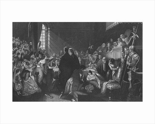 Early Courtroom Scene by Corbis