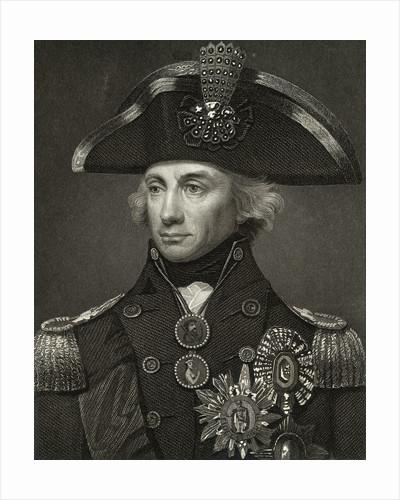 Portrait of Horatio Nelson in Uniform by Corbis