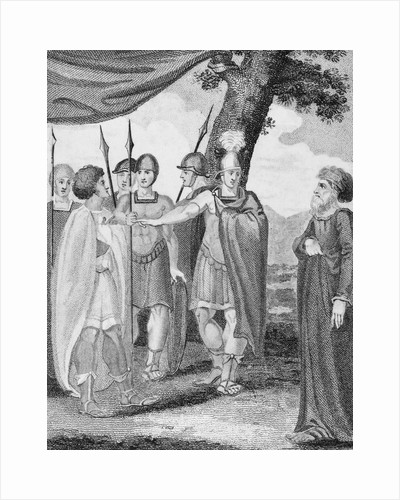 Drawing of Military Outdoor Scene from Titus Andronicus by Corbis