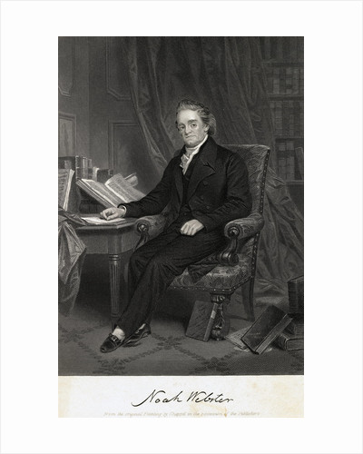 Engraving of Noah Webster by Chappel Johnson