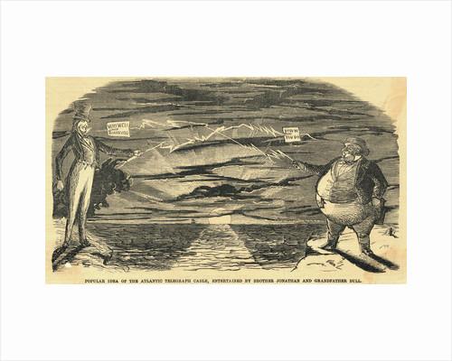 Illustration Depicting Idea of Telegraph Communication by Corbis