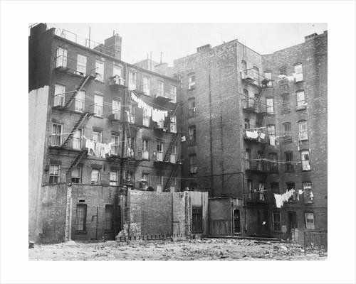 East Side Tenement Apartment Buildings by Corbis