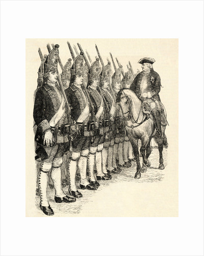 Frederich Wilhelm Reviewing Guards from Horseback by Corbis