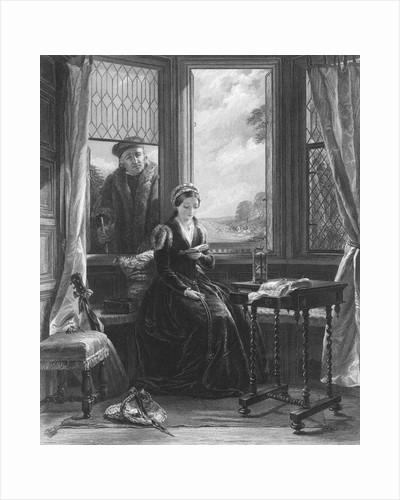 Roger Ascham Outside Window of Lady Jane Grey by Corbis