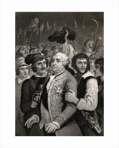 Louis XVI Being Threatened by Street Mob by Corbis