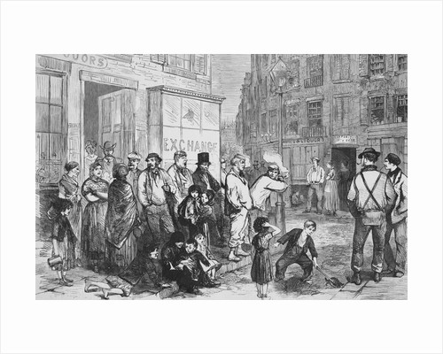 Illustration of a Street Scene in the Fourth Ward of New York by Corbis