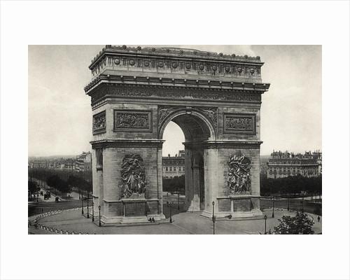 View of L'Arc De Triomphe in Paris by Corbis