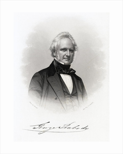 Engraving by John Chester Buttre of George Peabody After Photography by Matthew Brady