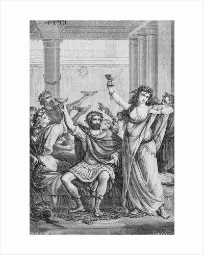 Engraving of Hannibal and His Men Celebrating in Capua by Corbis