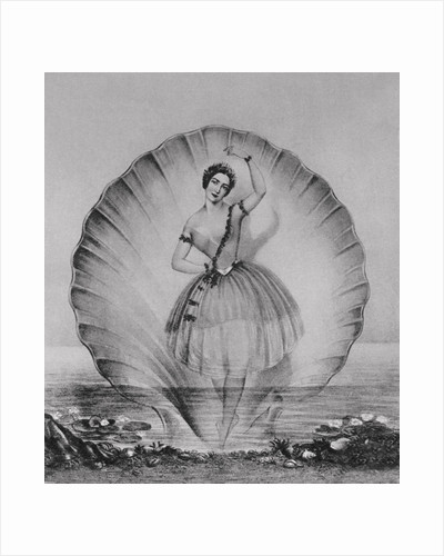 Drawing Depicting Ballerina on Beautiful Setting by Corbis