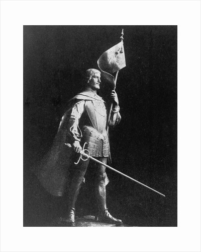 Spanish Explorer Panfilo De Narvaez in Armored Uniform by Corbis