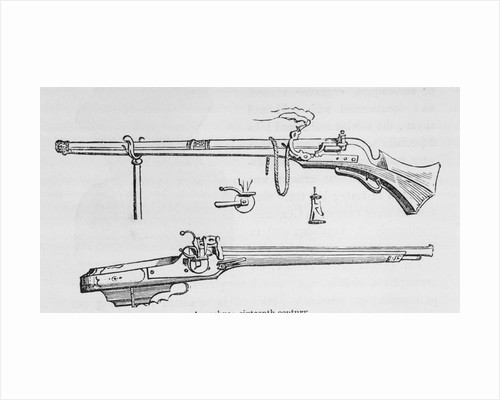 Illustration Depicting Arquebus Weapon by Corbis