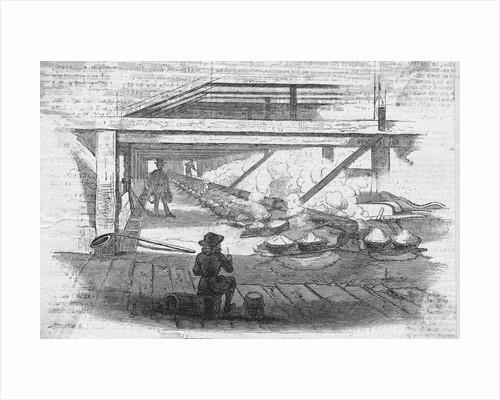 Illustration of a Salt Works Plant by Corbis