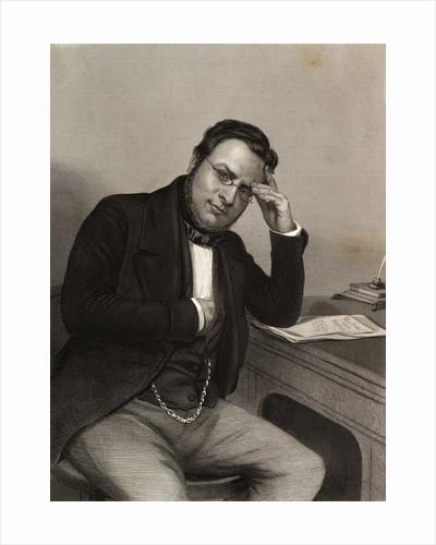 Early Italian Statesman Camillo Benso Cavour in Pensive Pose by Corbis