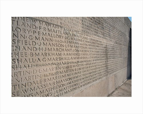 Wall of Names at Vimy Memorial by Corbis