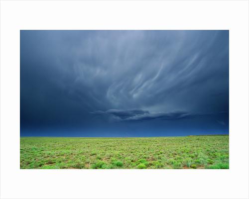 Storm Clouds Hanging over the Plains of Llano Estacado. by Corbis