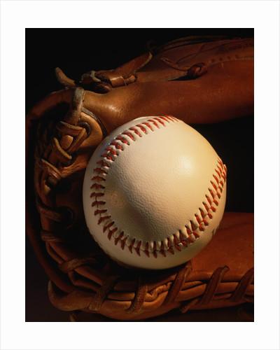 Baseball and a Pitcher's Mitt by Corbis