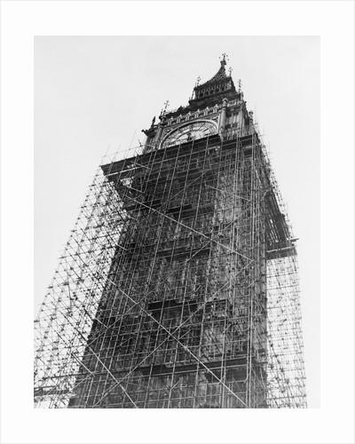 Big Ben in Scaffolding by Corbis