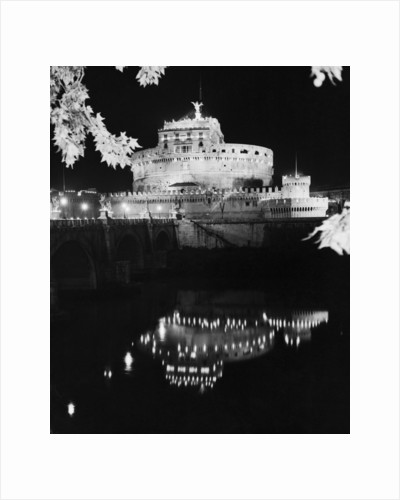 St. Angelo Castle Reflecting in the Tiber River by Corbis