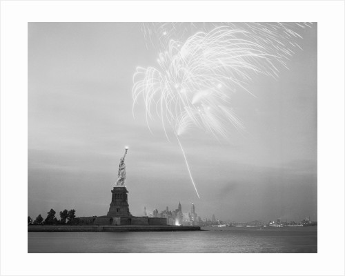 Fireworks over the Statue of Liberty by Corbis
