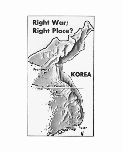 Poster of Korea and 38th Parallel by Corbis