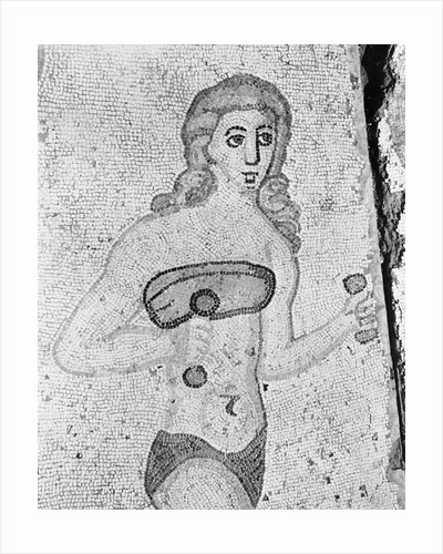 Detail of Young Women Exercising Late Antique Roman Mosaic by Corbis