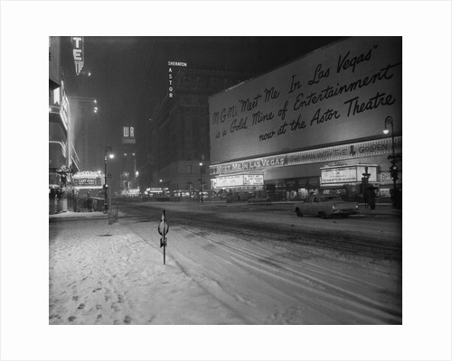 Snowstorm in New York City Leaves Times Square Deserted by Corbis
