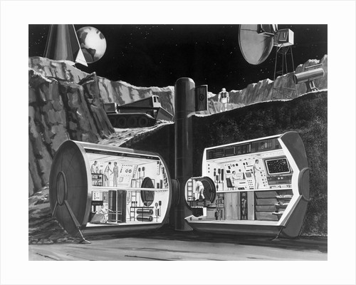 Underground Research Station on the Moon by Corbis